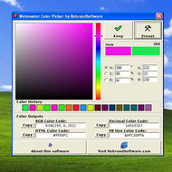 Webmaster Color Picker screenshot